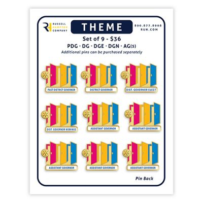 Set of 9 DISTRICT Officer Magnetic Theme Pins