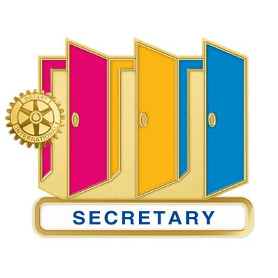 Theme Officer Magnetic Pin - SECRETARY