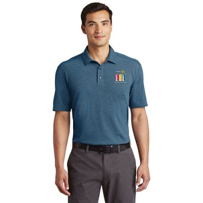 2020 Theme Men's Short Sleeve River Blue Navy/Carolina Blue Polo