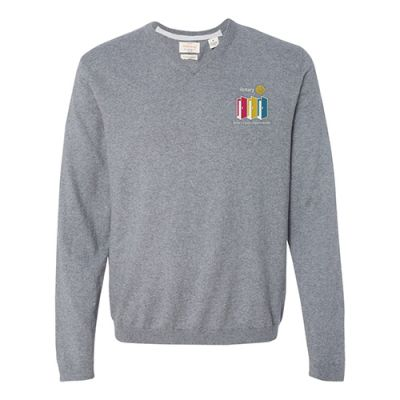 2020-21 Theme Men's Cotton Cashmere V-Neck Sweater