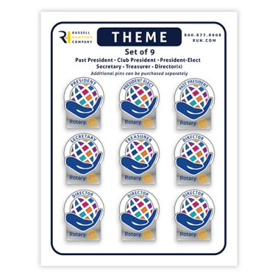 Set of 9 CLUB Officer Theme Pins 2021-2022 Theme